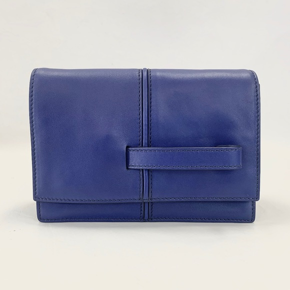 Valentino Blue Flap Clutch Authentic